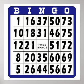 Tarjeta 4 del bingo póster