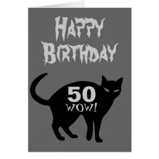 Tarjeta 50.a del feliz cumpleaños