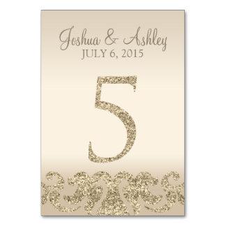 Tarjeta 5 de la Número-Tabla de la tabla del boda