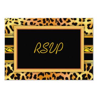 """Tarjeta 5"""" de RSVP de la impresión de la piel del Invitación 3.5"""" X 5"""""""