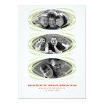 Tarjeta 5x7 de la foto del navidad de la elipse de invitación 12,7 x 17,8 cm