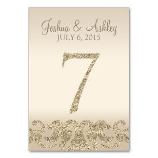 Tarjeta 7 de la Número-Tabla de la tabla del boda