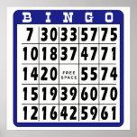 Tarjeta 7 del bingo impresiones