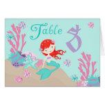 Tarjeta 8 castaños de la tabla de little mermaid