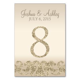 Tarjeta 8 de la Número-Tabla de la tabla del boda