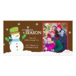 Tarjeta 8x4 de la foto del navidad de las vacacion plantilla para tarjeta de foto