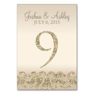 Tarjeta 9 de la Número-Tabla de la tabla del boda