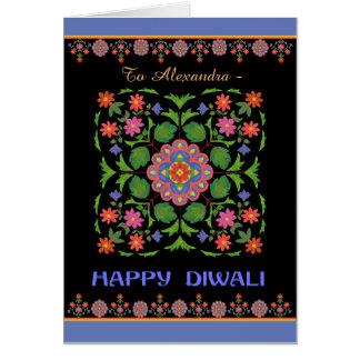 Tarjeta a personalizar, modelo de Diwali de