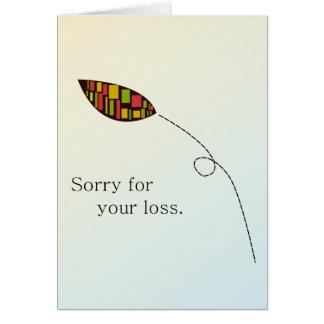 Tarjeta abstracta de la condolencia de la hoja