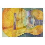 Tarjeta abstracta de la guitarra acústica