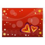 Tarjeta abstracta de los corazones