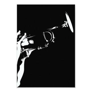 Tarjeta abstracta de RSVP de la trompeta del jazz Anuncios Personalizados