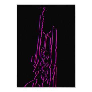 "Tarjeta abstracta de RSVP de la trompeta del jazz Invitación 3.5"" X 5"""