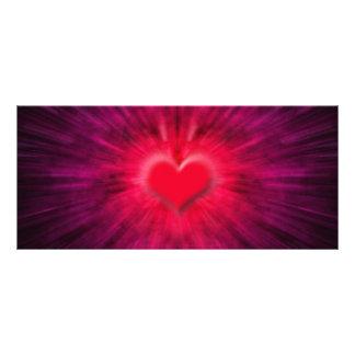 Tarjeta abstracta del estante del corazón lona publicitaria