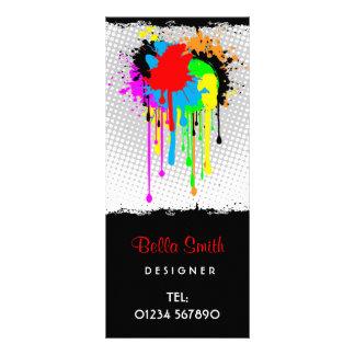 Tarjeta abstracta del estante del Grunge Tarjetas Publicitarias A Todo Color