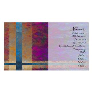 Tarjeta abstracta del perfil de Giftwrap Plantilla De Tarjeta Personal
