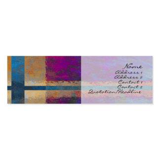 Tarjeta abstracta del perfil de Giftwrap Tarjetas De Negocios