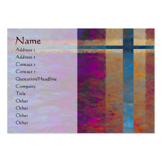 Tarjeta abstracta del perfil de Giftwrap Tarjeta Personal