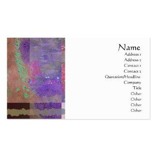 Tarjeta abstracta del perfil de las amapolas rosad tarjeta de visita