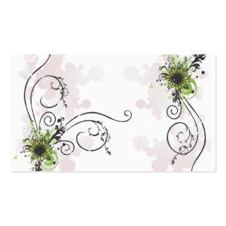 tarjeta abstracta del perfil de las flores tarjetas de visita