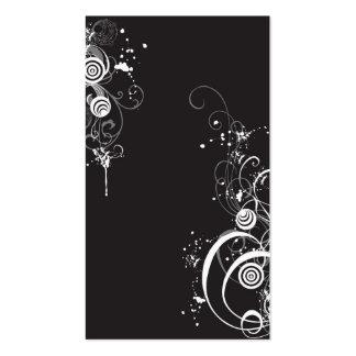 Tarjeta abstracta del perfil tarjetas de visita