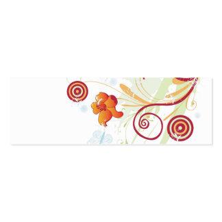 Tarjeta abstracta del perfil tarjetas de visita mini