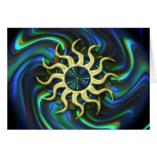 Tarjeta abstracta del solsticio de invierno de Sun