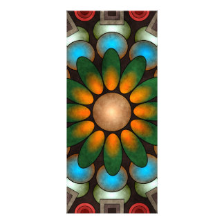 Tarjeta abstracta floral linda del estante del art lona
