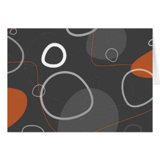 Tarjeta abstracta Retro-Moderna