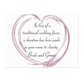 Tarjeta abstracta rosada del favor de la caridad plantilla de tarjeta de negocio