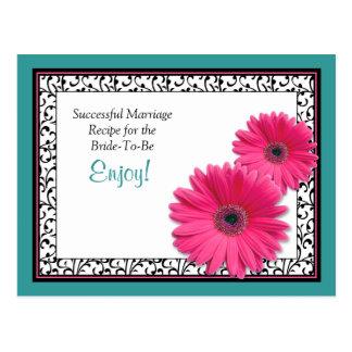 Tarjeta acertada de la receta de la boda del tarjeta postal