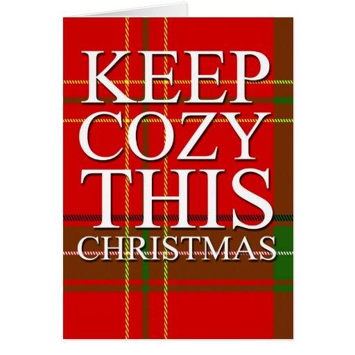 Tarjeta acogedora de las Felices Navidad
