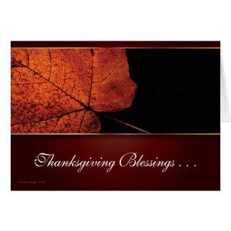 Tarjeta adaptable de la acción de gracias