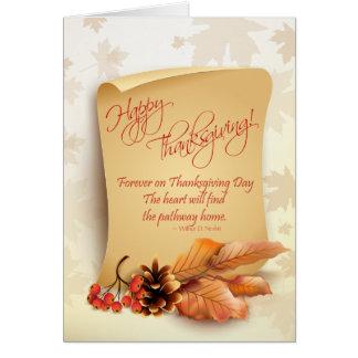 Tarjeta adaptable de la acción de gracias con el f