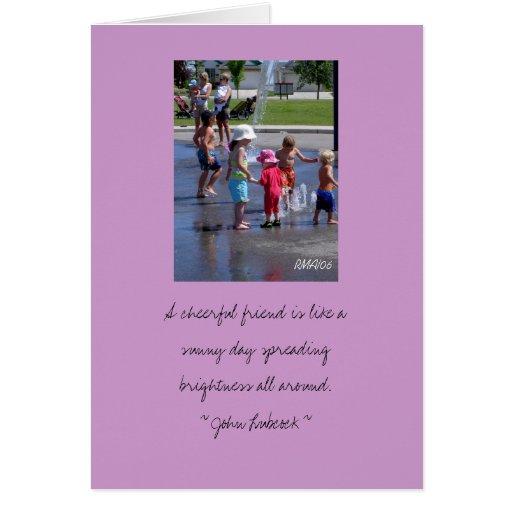 Tarjeta adaptable de la amistad