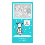 Tarjeta adaptable de la foto de la vaca divertida  tarjetas fotograficas personalizadas