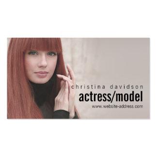 Tarjeta adaptable de la foto para los actores, tarjetas de visita