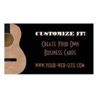 Tarjeta adaptable de la industria musical de la gu plantilla de tarjeta personal