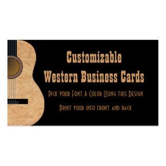 Tarjeta adaptable de la industria musical de la gu plantilla de tarjeta de negocio