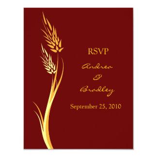 Tarjeta adaptable de la respuesta del boda del comunicados personales