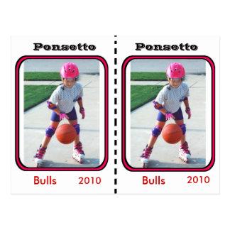 Tarjeta adaptable del baloncesto postal