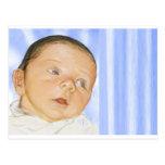 tarjeta adaptable del bebé postal