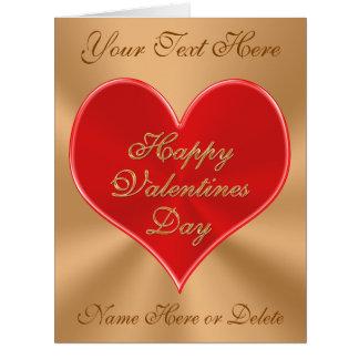 Tarjeta adaptable del día de San Valentín con SU