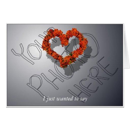 Tarjeta adaptable del el día de San Valentín de la