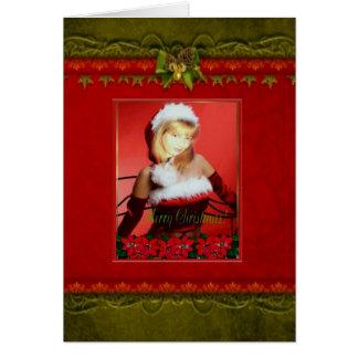 Tarjeta adaptable del marco de la foto del navidad