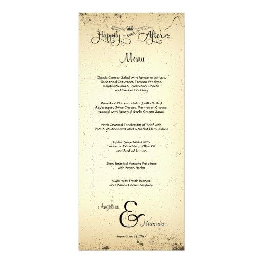 Tarjeta adaptable del menú del boda del argumento tarjeta publicitaria