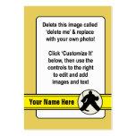 Tarjeta adaptable del portero del hockey tarjeta de visita