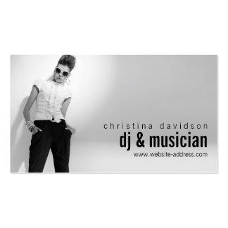 Tarjeta adaptable para DJs, bandas, músicos de la Tarjetas De Visita
