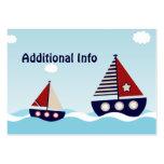 Tarjeta adicional del parte movible del velero náu tarjetas de negocios