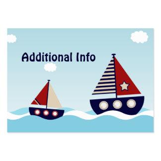 Tarjeta adicional del parte movible del velero tarjetas de visita grandes